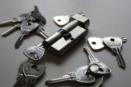 Schloss mit Schlüsseln